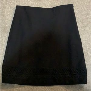 Black EUC banana republic skirt
